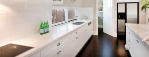 White Natural Stone Kitchen Benchtop - Aurora Stone